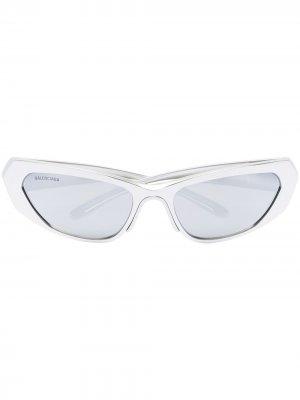 Sport shield-frame sunglasses Balenciaga Eyewear. Цвет: серебристый