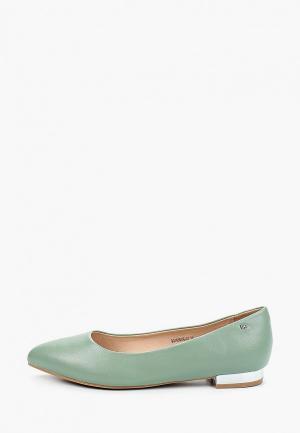Туфли Betsy. Цвет: зеленый