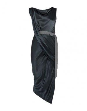 Длинное платье VIVIENNE WESTWOOD ANGLOMANIA. Цвет: стальной серый