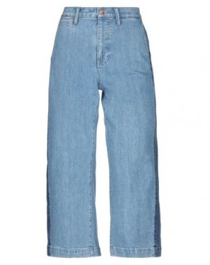 Джинсовые брюки-капри MADEWELL. Цвет: синий