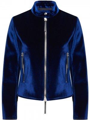 Куртка на молнии Giuseppe Zanotti. Цвет: синий