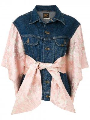 Кастомизируемая джинсовая куртка À La Garçonne. Цвет: синий
