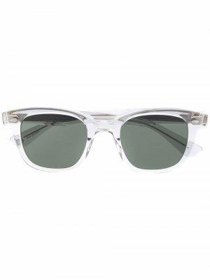 Солнцезащитные очки Calabar в квадратной оправе Garrett Leight. Цвет: серый