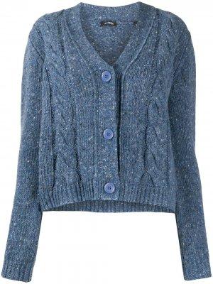 Джемпер фактурной вязки Aspesi. Цвет: синий
