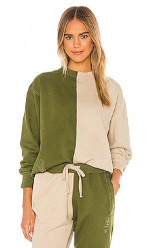 Пуловер La Detresse. Цвет: оливковый