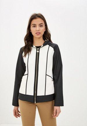 Куртка кожаная Pennyblack. Цвет: белый