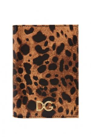 Обложка на паспорт с леопардовым принтом Dolce&Gabbana. Цвет: multicolor