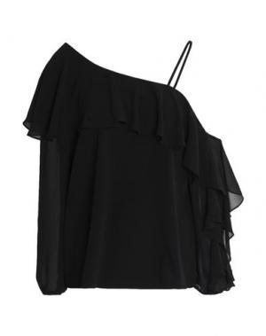Блузка HAUTE HIPPIE. Цвет: черный