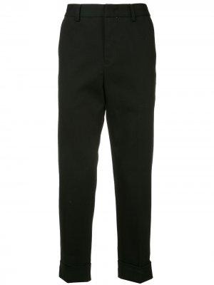 Классические брюки с высокой посадкой CK Calvin Klein. Цвет: черный