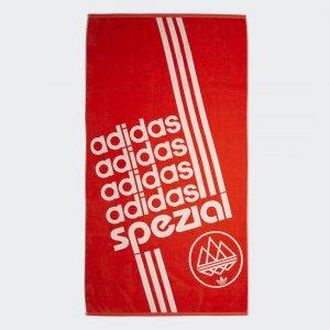 Полотенце Spezial Originals adidas. Цвет: белый