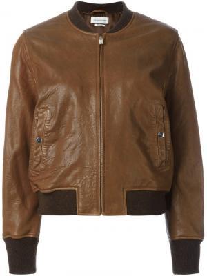 Куртка-бомбер Brantley Isabel Marant Étoile. Цвет: коричневый