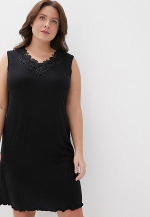 Сорочка ночная El Fa Mei. Цвет: черный