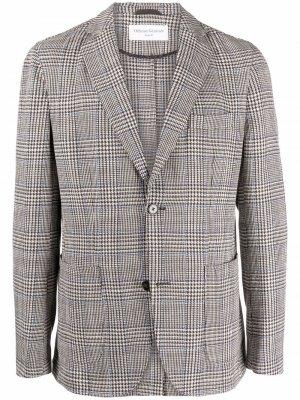 Однобортный пиджак в клетку Officine Generale. Цвет: коричневый