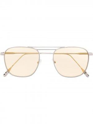 Солнцезащитные очки в круглой оправе Eleventy. Цвет: серебристый