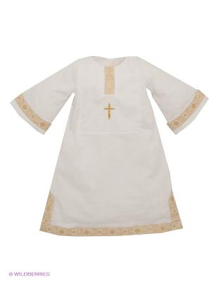 Рубашка Ангел мой. Цвет: золотистый, молочный