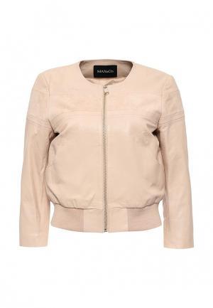 Куртка кожаная MAX&Co. Цвет: разноцветный