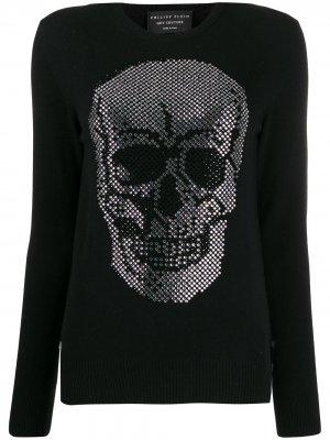 Пуловер с декором Skull Philipp Plein. Цвет: черный