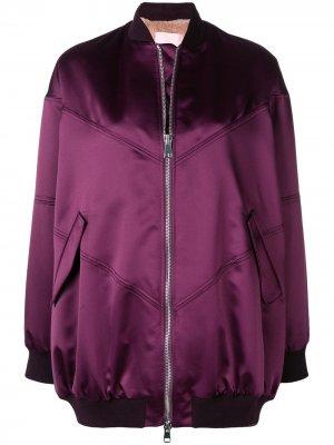 Куртка-бомбер на молнии Giamba. Цвет: розовый