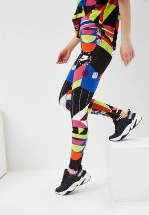 Леггинсы Nike W NSW NSP LGGNG AOP. Цвет: разноцветный