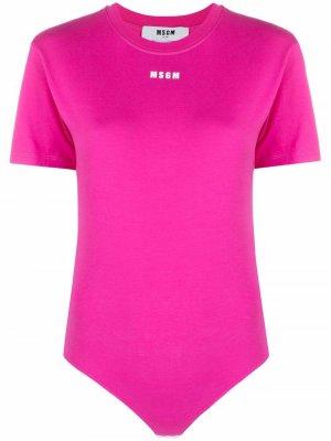 Боди с логотипом MSGM. Цвет: розовый