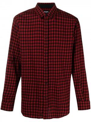 Клетчатая рубашка с длинными рукавами Dsquared2. Цвет: красный