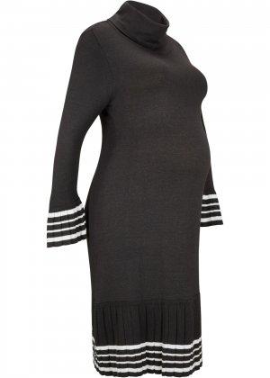 Платье для беременных bonprix. Цвет: серый