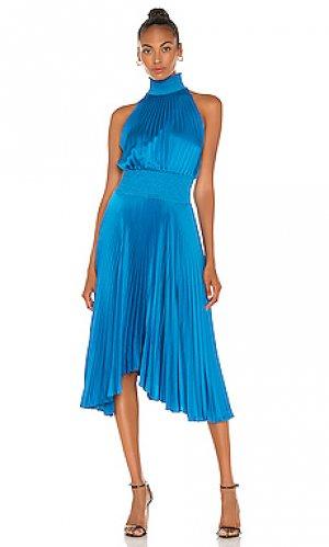 Платье миди renzo A.L.C.. Цвет: сине-зеленый