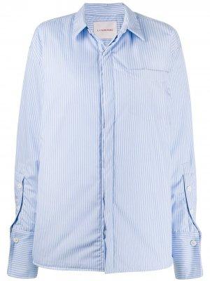 Полосатая рубашка оверсайз A.F.Vandevorst. Цвет: синий