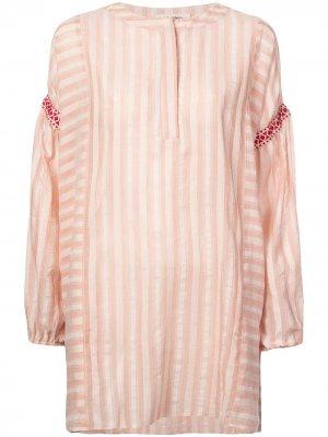 Платье-туника Nefasi в полоску lemlem. Цвет: розовый