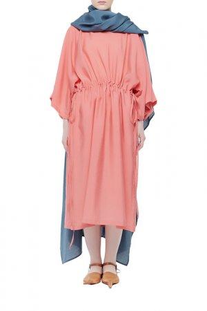 Платье Cyrille Gassiline. Цвет: синий, коралловый
