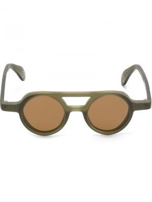 Солнцезащитные очки Bruto Monocle Eyewear. Цвет: зелёный