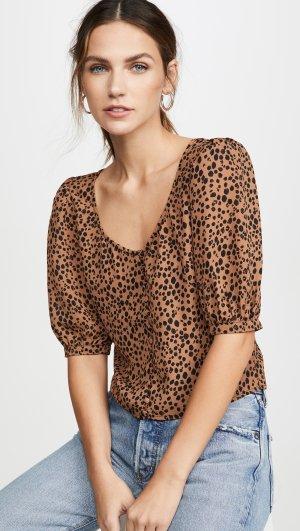 Cheetah Print Puff Sleeve Top BB Dakota
