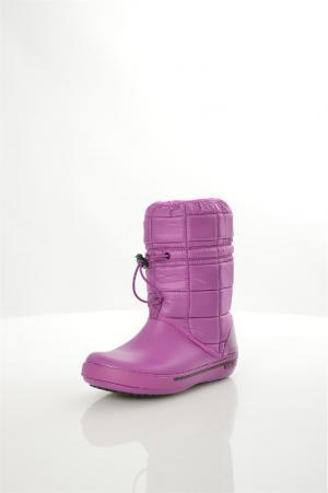 Дутики Crocs. Цвет: фиолетовый