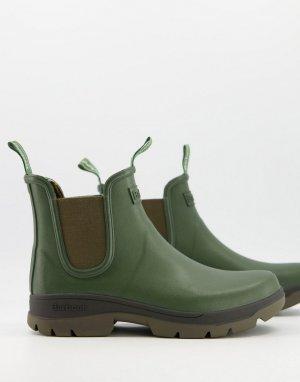 Резиновые сапоги челси оливкового цвета Fury-Зеленый цвет Barbour