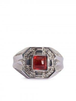 Кольцо с камнем Dolce & Gabbana. Цвет: серебристый