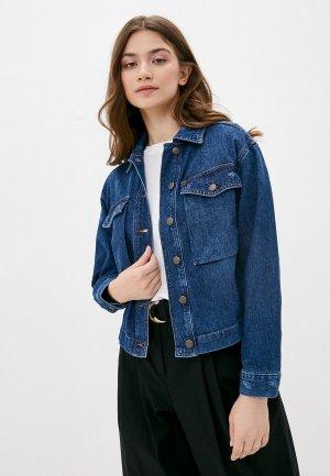 Куртка джинсовая Sisley. Цвет: синий