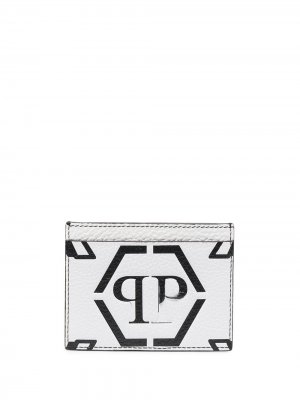 Картхолдер с логотипом Philipp Plein. Цвет: белый