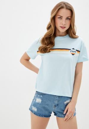Футболка Pepe Jeans. Цвет: голубой
