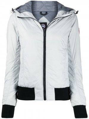 Куртка-бомбер Dore с капюшоном Canada Goose. Цвет: серый