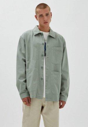 Куртка Pull&Bear. Цвет: зеленый
