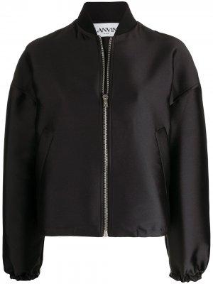 Куртка-бомбер оверсайз LANVIN. Цвет: черный