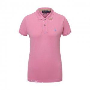 Хлопковое поло Polo Ralph Lauren. Цвет: розовый