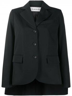 Пиджак с кейпом LANVIN. Цвет: черный
