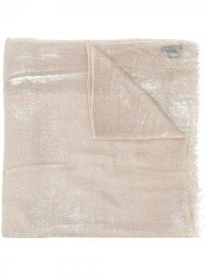 Кашемировый шарф с блестками Avant Toi. Цвет: золотистый