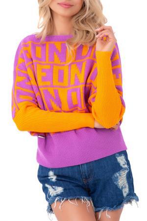 Свитер FOBYA. Цвет: orange, pink