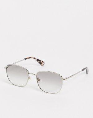 Квадратные солнцезащитные очки kiyah-Серебристый Kate Spade