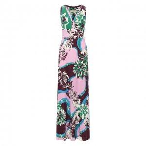 Платье из смеси вискозы и шелка Emilio Pucci. Цвет: разноцветный
