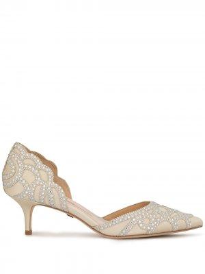 Туфли Gigi на каблуке-рюмке Badgley Mischka. Цвет: серебристый