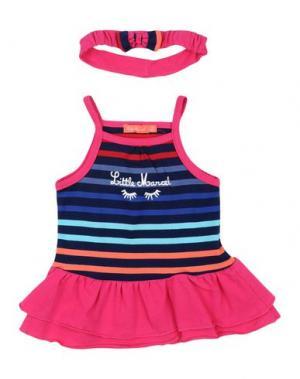 Платье LITTLE MARCEL. Цвет: фуксия