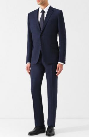 Шерстяной костюм с пиджаком на двух пуговицах Valentino. Цвет: темно-синий